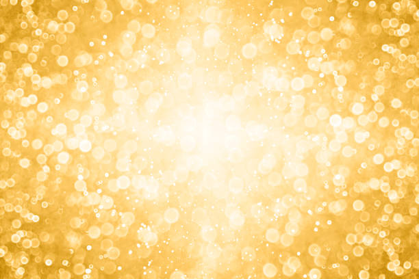 Gold Glitter Sparkle Background For Anniversary, Christmas or Birthday stock photo