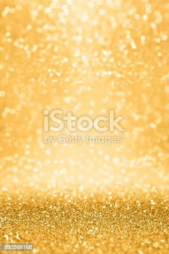istock Gold Glitter Sparkle Background for Wedding Anniversary, Birthday or Christmas 892568168