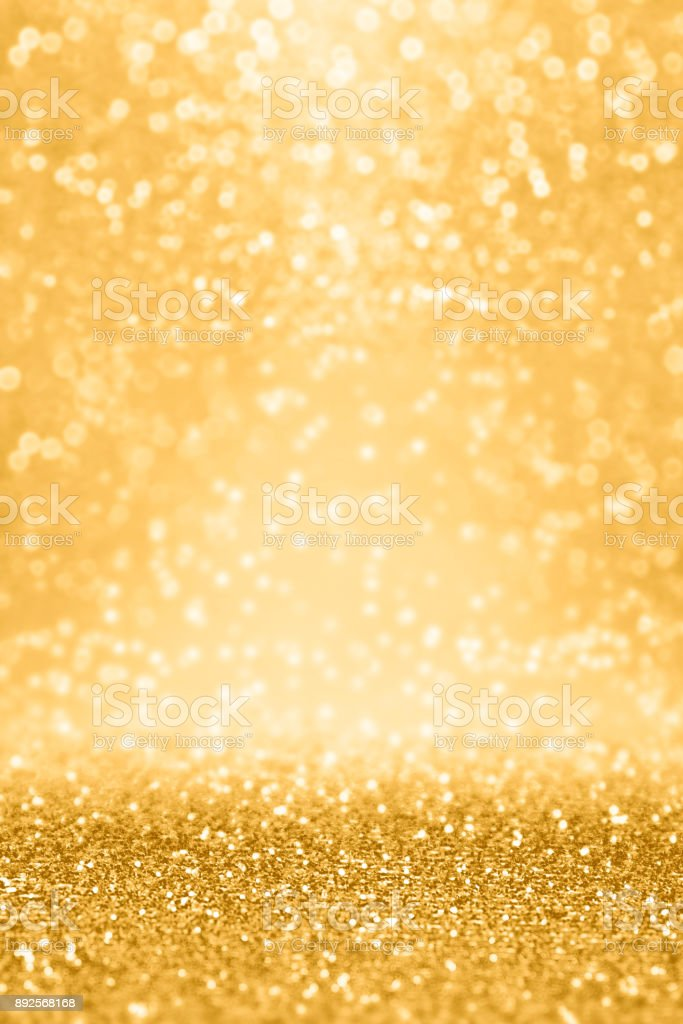 Gold Glitter Sparkle Background for Wedding Anniversary, Birthday or Christmas stock photo