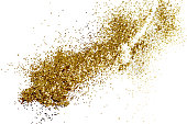istock Gold glitter splash isolated on a white background. 894457512