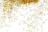 istock Gold glitter sprinkles down from top of frame 462165377