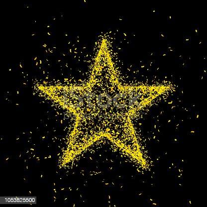 846933050istockphoto Gold glitter star shape background 1053825500