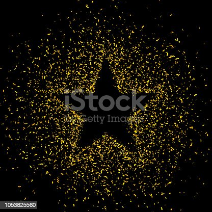 846933050 istock photo Gold glitter star shape background 1053825560