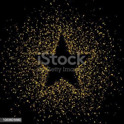846933050istockphoto Gold glitter star shape background 1053825560