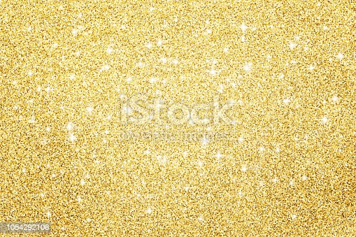 Gold glitter surface background
