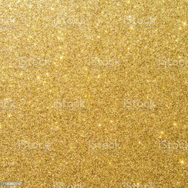 Photo of Gold glitter texture background sparkling shiny wrapping paper for Christmas holiday seasonal wallpaper  decoration, greeting and wedding invitation card design element