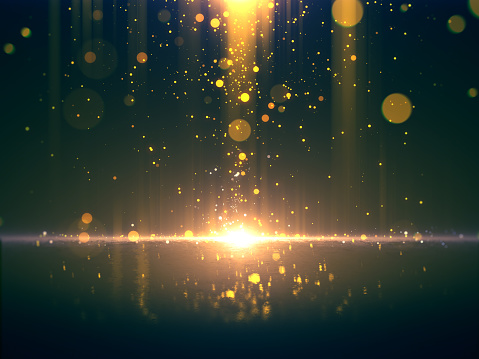 666540036 istock photo Gold glittering bokeh background 984593130