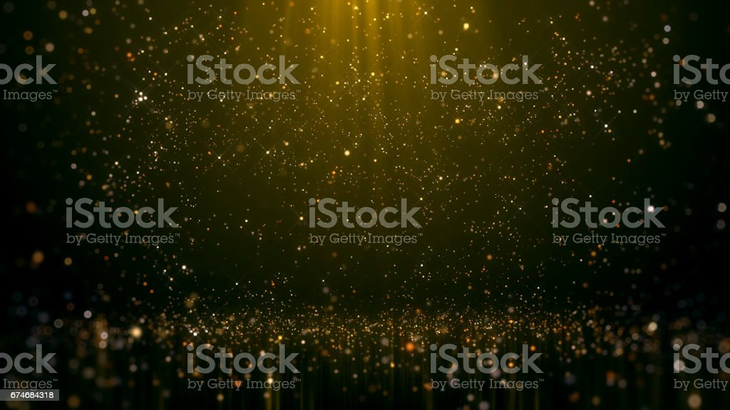 Gold Glittering Bokeh Glamour Abstract Background stock photo