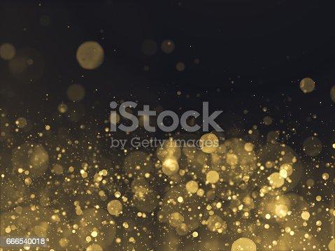 istock Gold Glittering Bokeh Glamour Background 666540018
