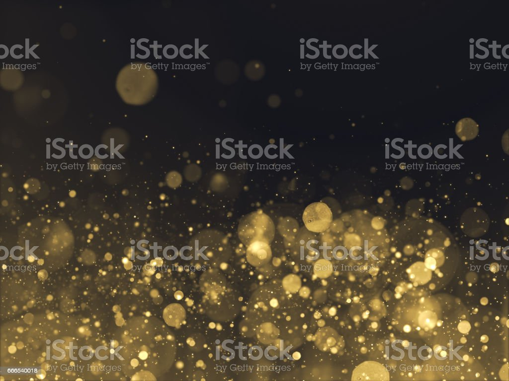 Gold Glittering Bokeh Glamour Background stock photo