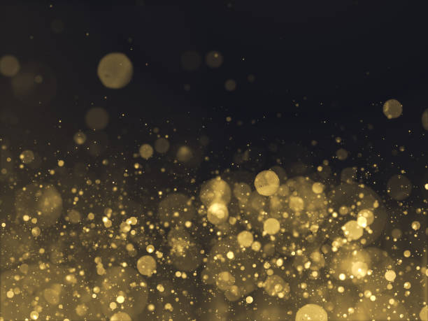 gold glittering bokeh glamour background - award stock photos and pictures