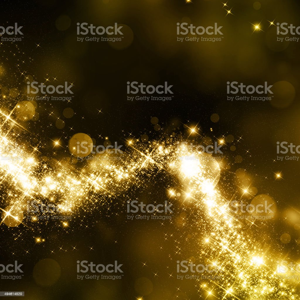 Ciel étoilé queue de poussière d'or - Photo