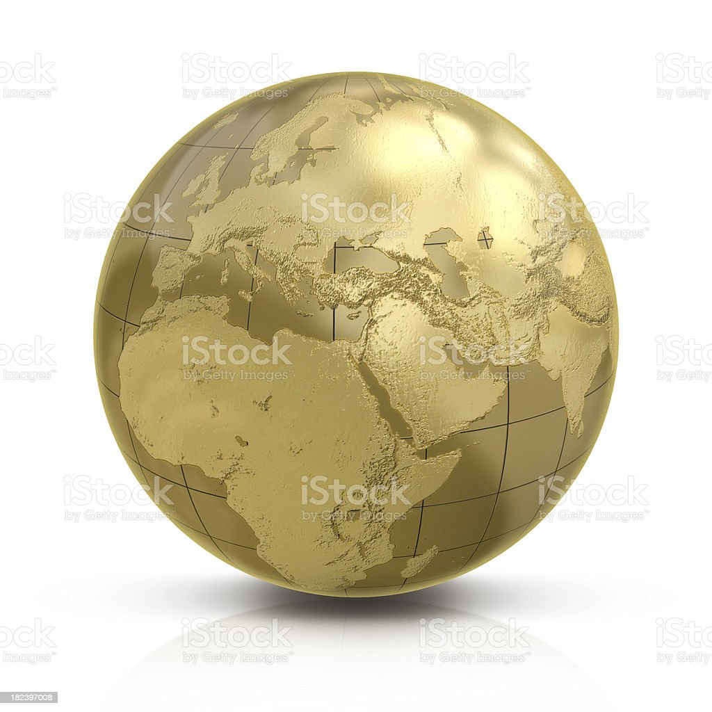 Gold globe stock photo