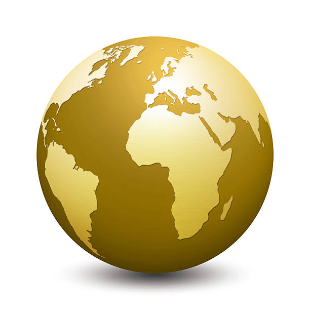 Royalty free gold world map pictures images and stock photos istock gold globe stock photo golden world map gumiabroncs Image collections