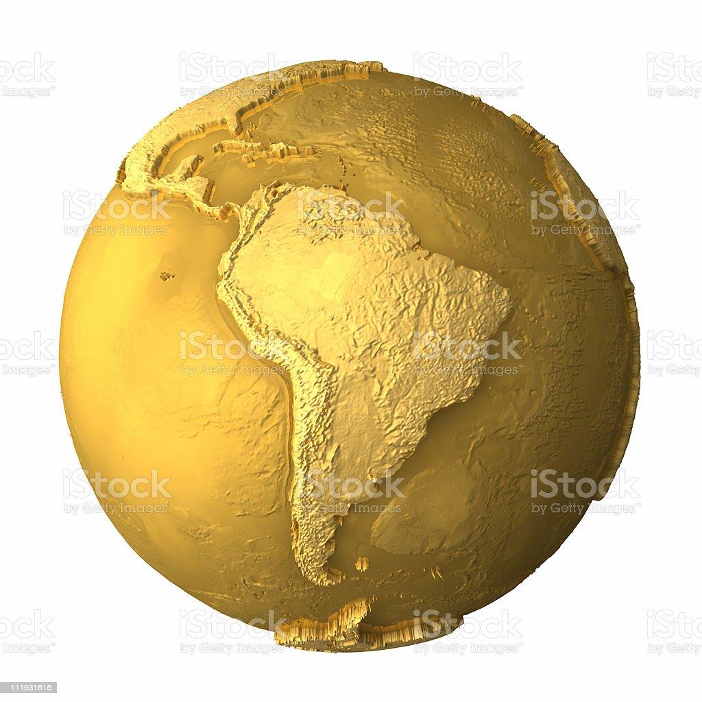 Gold Globe - South America stock photo