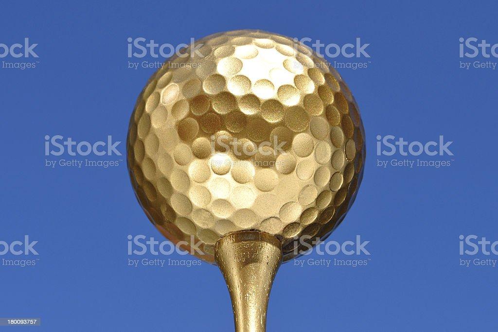 Gold Golf Ball royalty-free stock photo