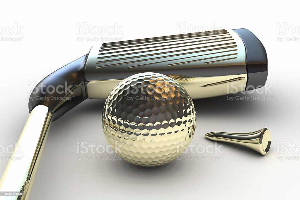 Gold Golf Club royalty-free stock photo