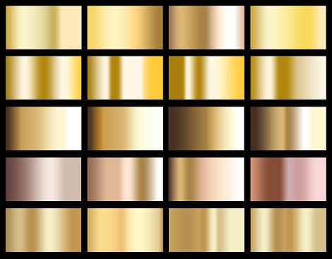 istock Gold gradient background icon texture metallic illustration for frame, ribbon, banner, coin and label. Realistic abstract golden design seamless pattern. Elegant light and shine vector template. 1049941978