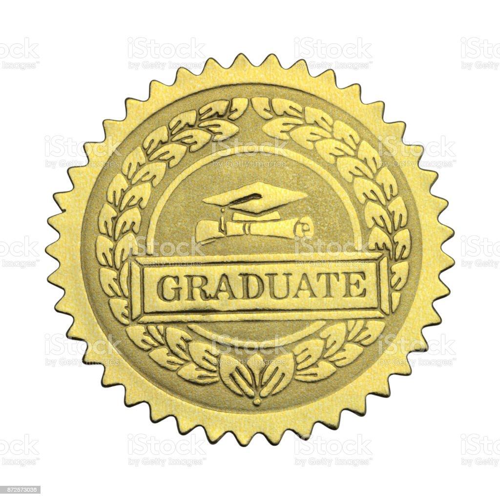 Sello de oro graduado - foto de stock