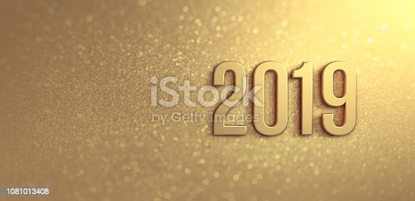 istock Gold Greeting card 2019 1081013408