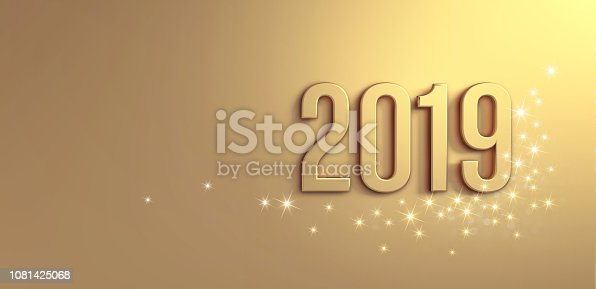 istock Gold Greeting card 2019 1081425068