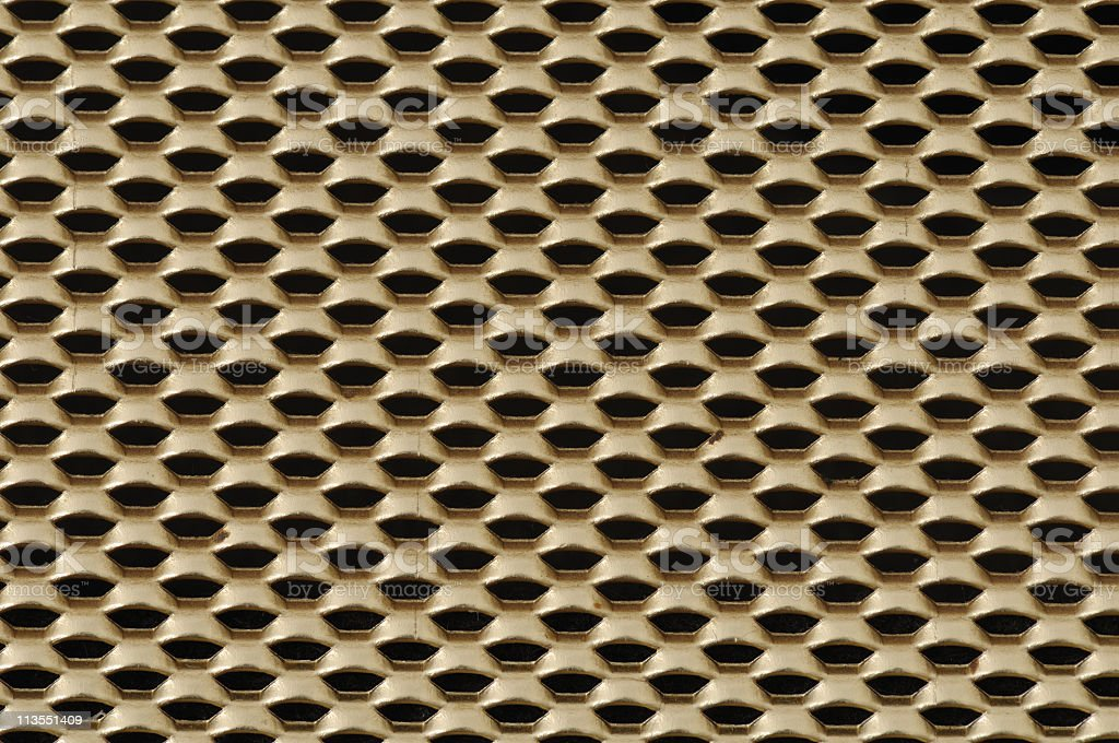 Gold grid close-up royalty-free stock photo
