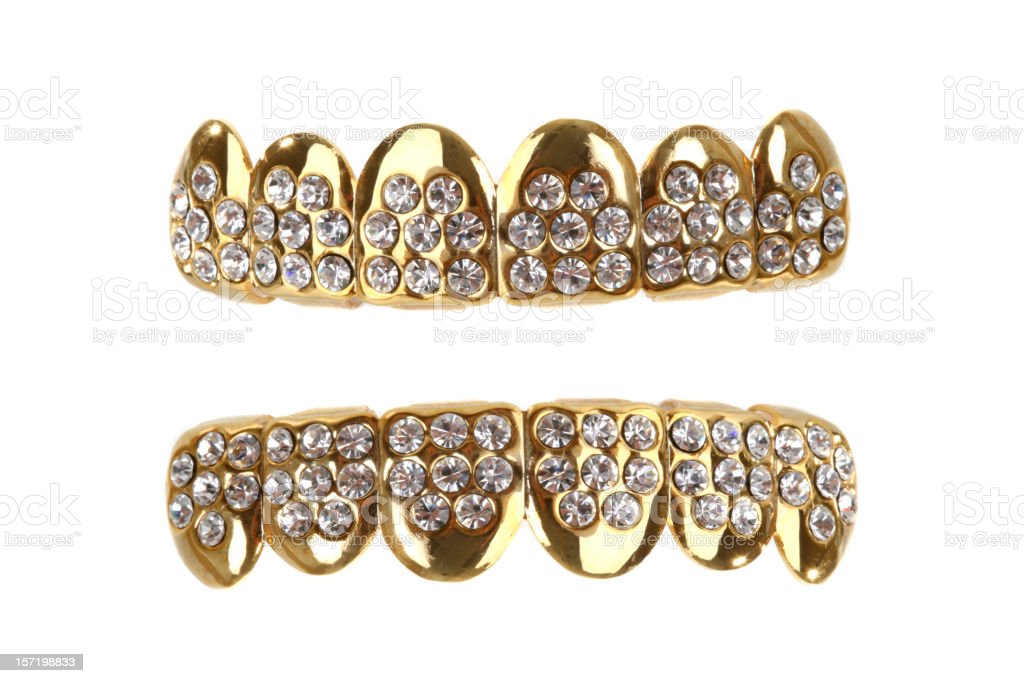 Gold Grill stock photo