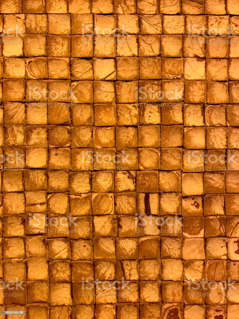 gold grunge wood or stone background with squares zbiór zdjęć royalty-free