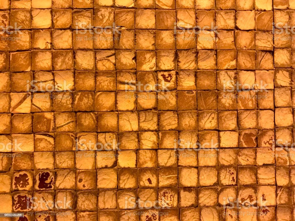 gold grunge wood or stone background with squares royalty-free stock photo