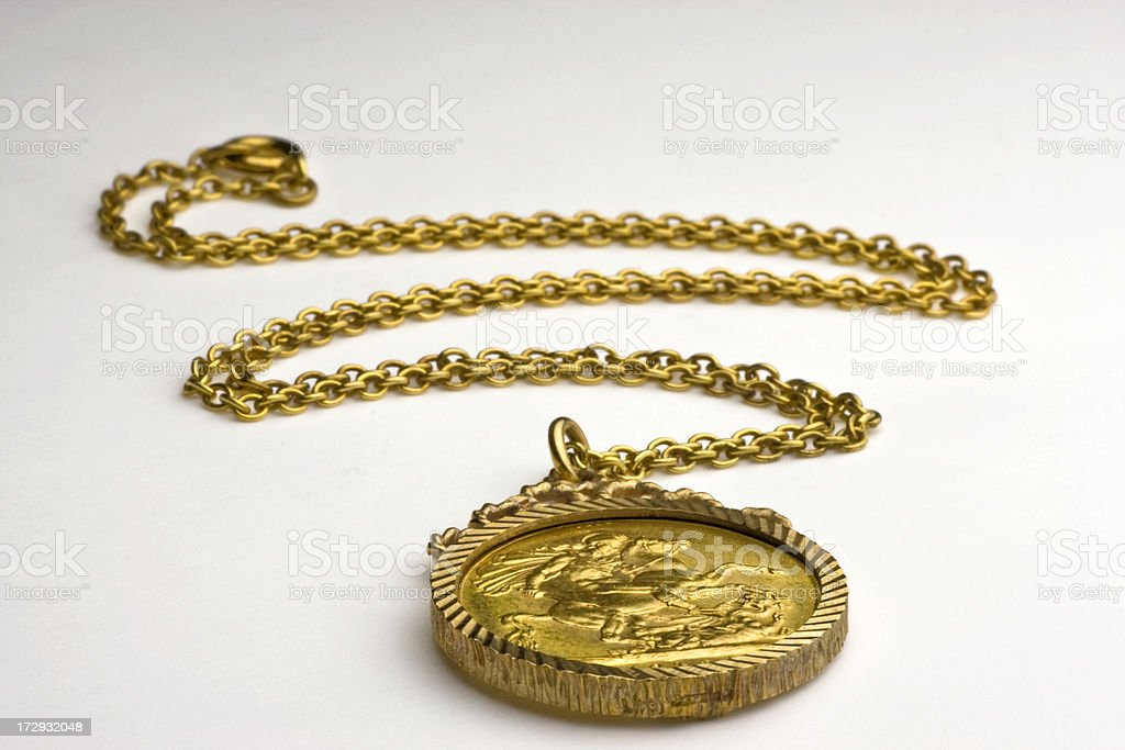Gold half sovereign royalty-free stock photo