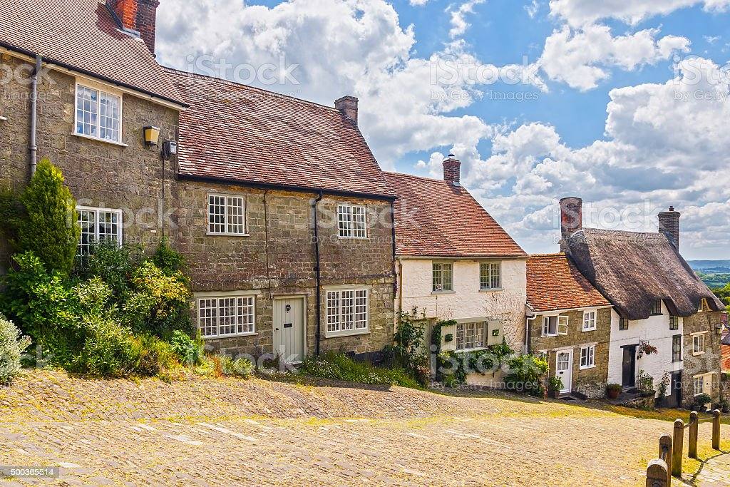 Gold Hill Shaftesbury Dorset stock photo