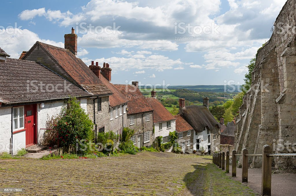 Gold Hill, Shaftesbury, Dorset stock photo