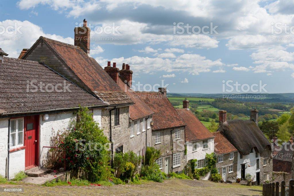 Gold Hill, Shaftesbury, Dorset stock photo