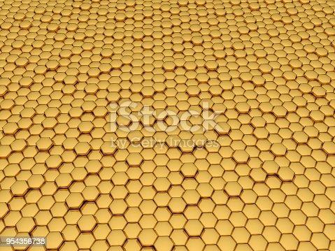 1053870408istockphoto Gold honeycomb 954356738