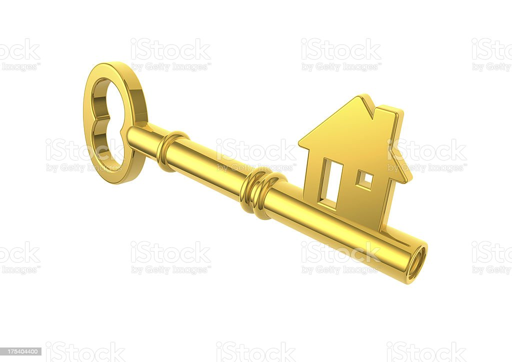 Gold House Key Stock Photo More Pictures of Accessibility iStock