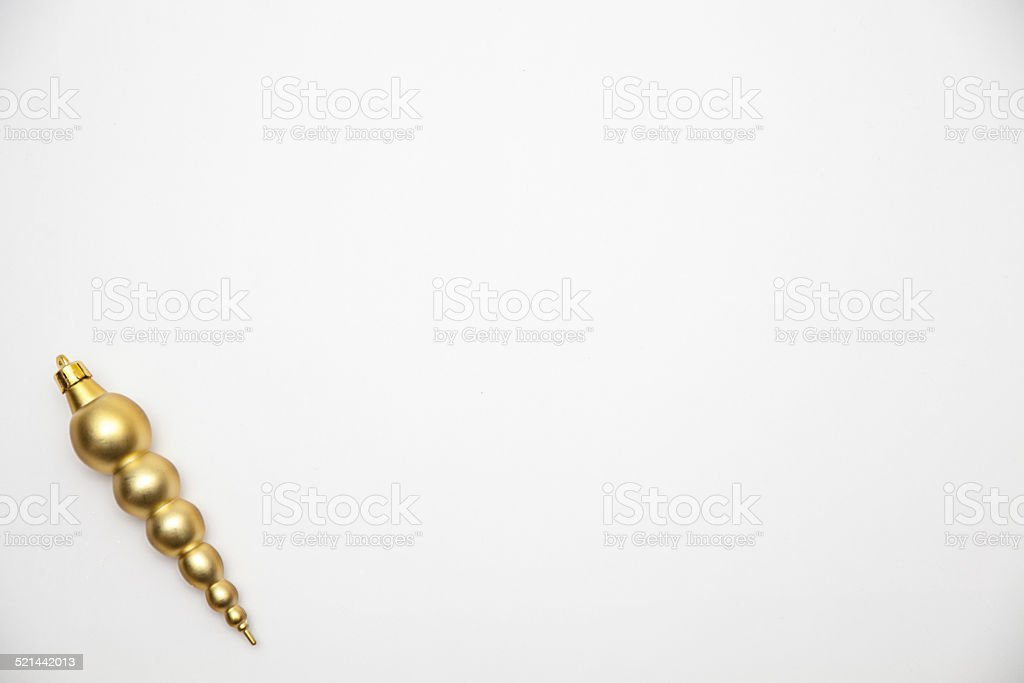 Gold Icicle in corner stock photo