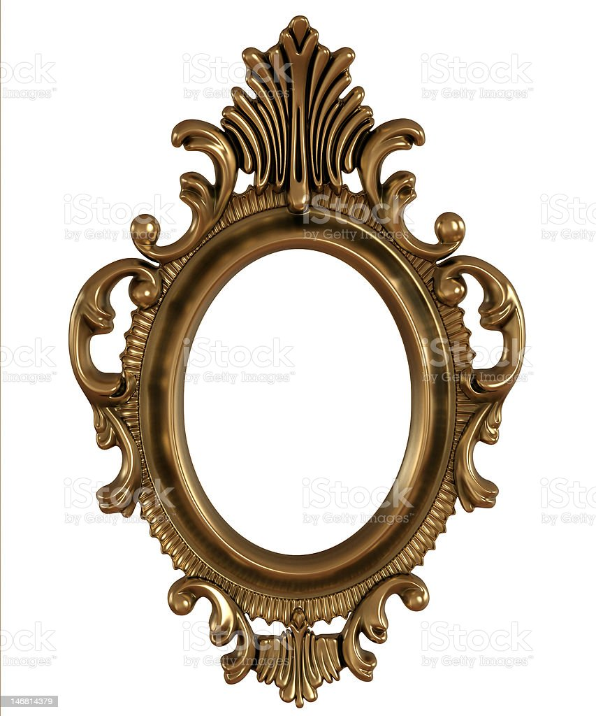 gold image frame royalty-free stock photo