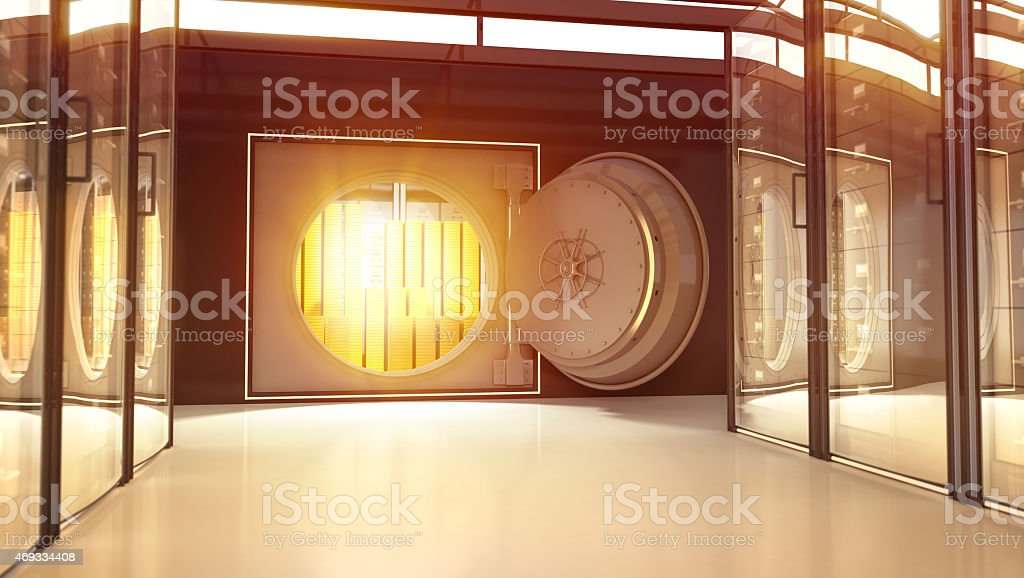 Gold in th Bank stock photo