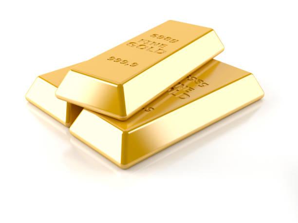 Gold ingots - foto de acervo