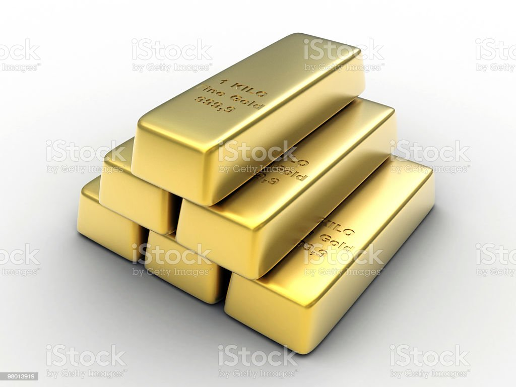Gold Ingots foto royalty-free