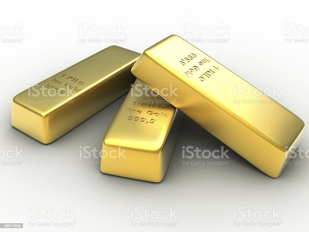 Gold Ingots royalty-free stock photo