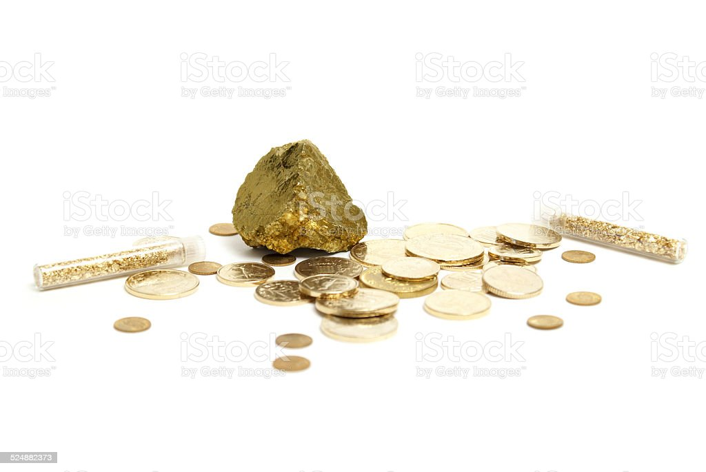 Gold Items stock photo