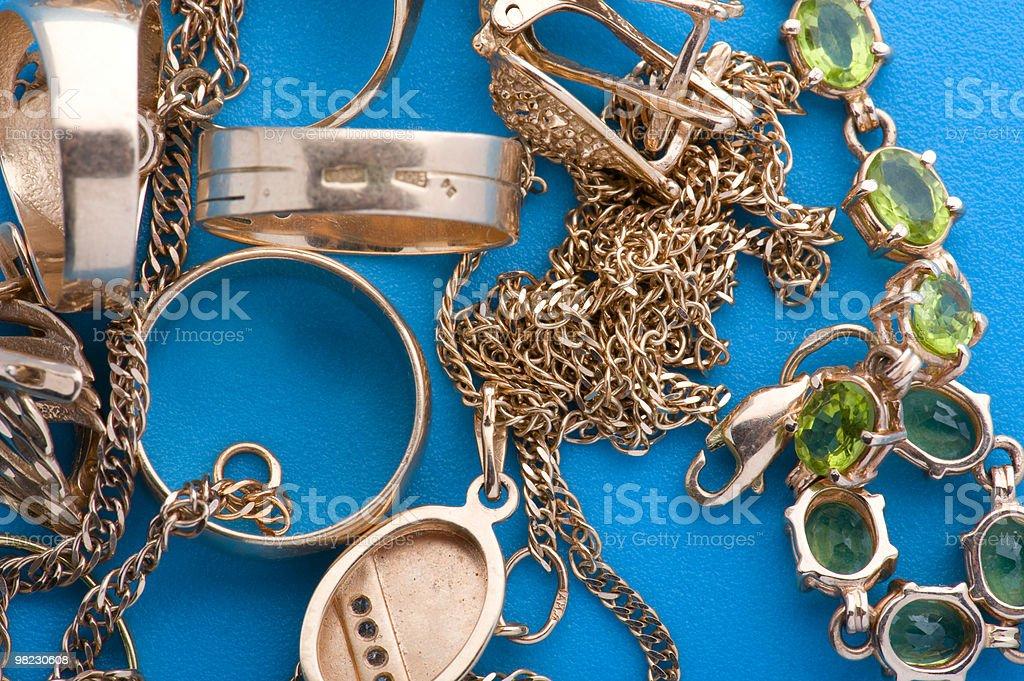 Gold jewel royalty-free stock photo