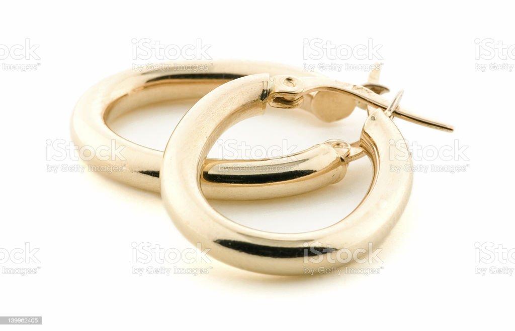 Gold Jewellery - Earrings royalty-free stock photo