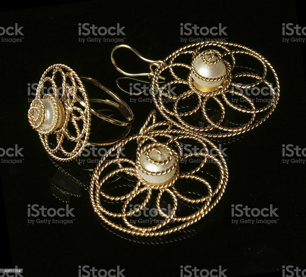 Gold jewelry royalty-free stock photo