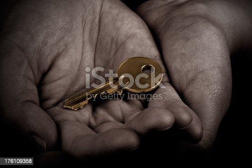 istock Gold Key 176109358