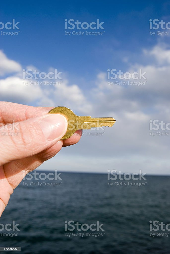 Gold Key to Success royalty-free stock photo