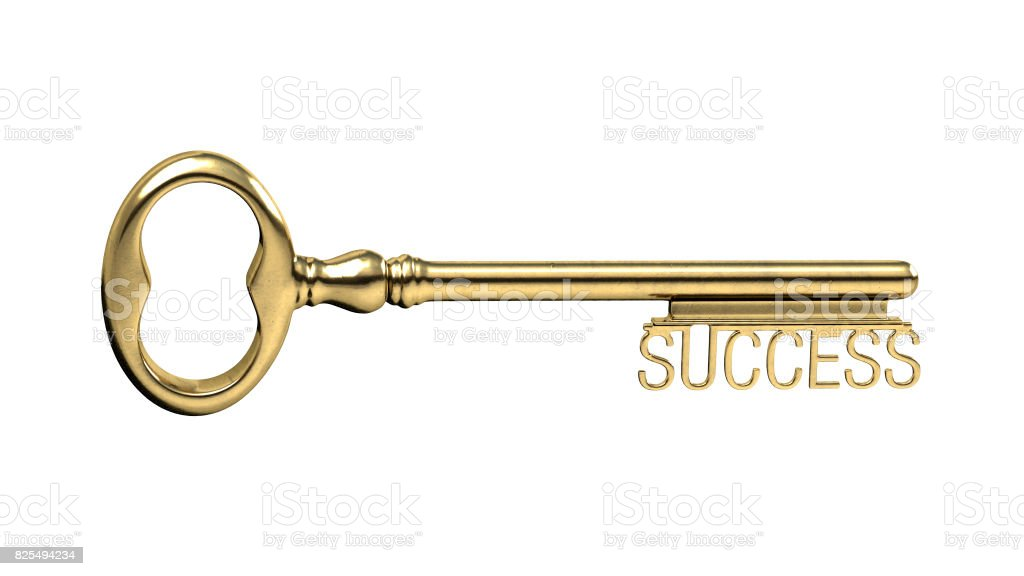 gold key to success stock photo