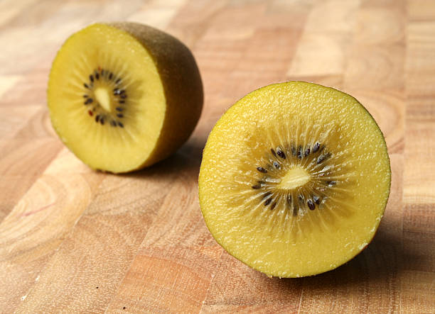 Gold Kiwifruit, cut in half
