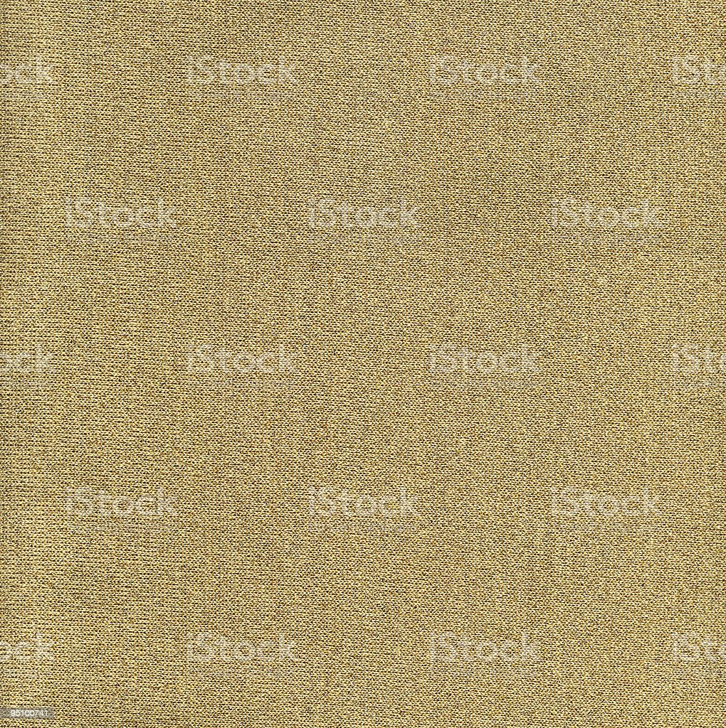 Gold Knit Fabric royalty-free stock photo